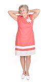 Woman in a red dress Royalty Free Stock Photos
