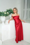 A woman in a red dress Stock Images