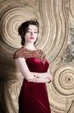 Woman in red eastern fashion dress, asia. Woman in red eastern dress, asia royalty free stock images