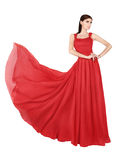 Woman in red evening dress Stock Photo
