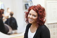 Woman with red hair Stock Images