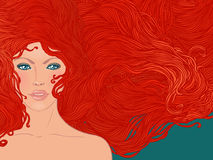 Woman with red hair Royalty Free Stock Image