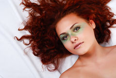 Woman with red hair Royalty Free Stock Photography