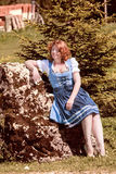 Happy holiday in the Bavarian Mountains Royalty Free Stock Photo