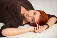 Woman with red hair Royalty Free Stock Images