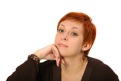 Woman with red hair Stock Image
