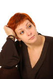 Woman with red hair Stock Photography