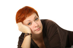 Woman with red hair Royalty Free Stock Photo