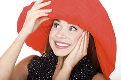 Woman in red hat Royalty Free Stock Photo