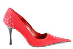 Woman red high heel shoe Stock Photo