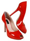 Woman red high shoe Royalty Free Stock Images