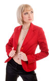 Woman in red jacket Royalty Free Stock Photos