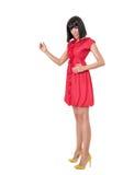 Woman in red mini dress Stock Image