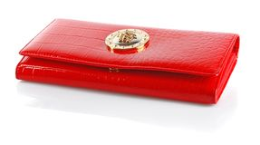 Woman red purse Royalty Free Stock Photos
