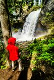 Moul Falls in Wells Gray Provincial Park, British Columbia, Canada Stock Photo