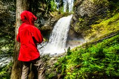 Moul Falls in Wells Gray Provincial Park, British Columbia, Canada Royalty Free Stock Photography