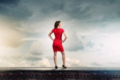 Woman in red Royalty Free Stock Photos