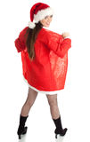 Woman in red Santa clothes and hat Royalty Free Stock Image