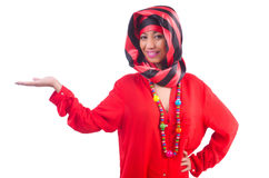 Woman in red scaf Stock Photo