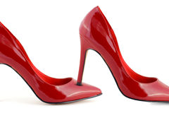 Woman red shoes Stock Image