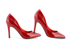 Woman red shoes Royalty Free Stock Image
