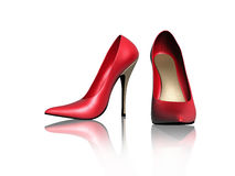 Woman Red shoes Stock Images