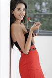 Woman in red skirt Stock Photos