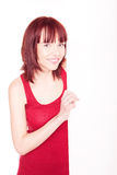 Woman in red tank top Stock Images