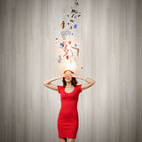 Woman in red Stock Photography
