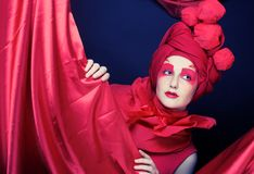 Woman in red. Royalty Free Stock Image