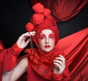 Woman in red. Royalty Free Stock Photos