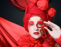 Woman in red. Stock Photos