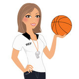 Woman referee Royalty Free Stock Photography