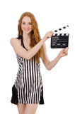 Woman referee Royalty Free Stock Image