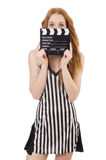 Woman referee Stock Photo