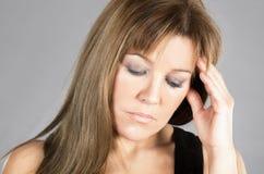 Woman reflecting Stock Photography