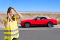 Woman With a Reflector Vest Stock Photography