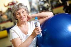 Woman refreshing Stock Photo
