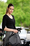 Woman refuel car Royalty Free Stock Photo