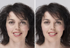 Before - after Royalty Free Stock Photos