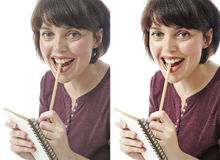 Before - after Royalty Free Stock Image