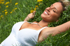 Woman relax stock photo
