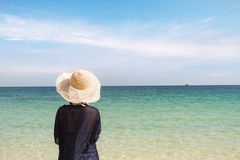 Woman relax beach Royalty Free Stock Photos