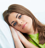 Woman relax at home. Royalty Free Stock Image