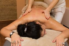 Woman on the massage Stock Photo