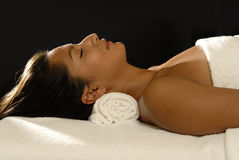 Woman relaxation stock photography
