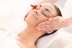 Woman at relaxation massage royalty free stock image