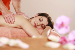 Woman relaxes in day spa Royalty Free Stock Photo