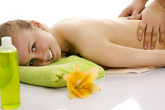 Woman relaxing. Royalty Free Stock Photo