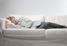 Woman relaxing Stock Photography